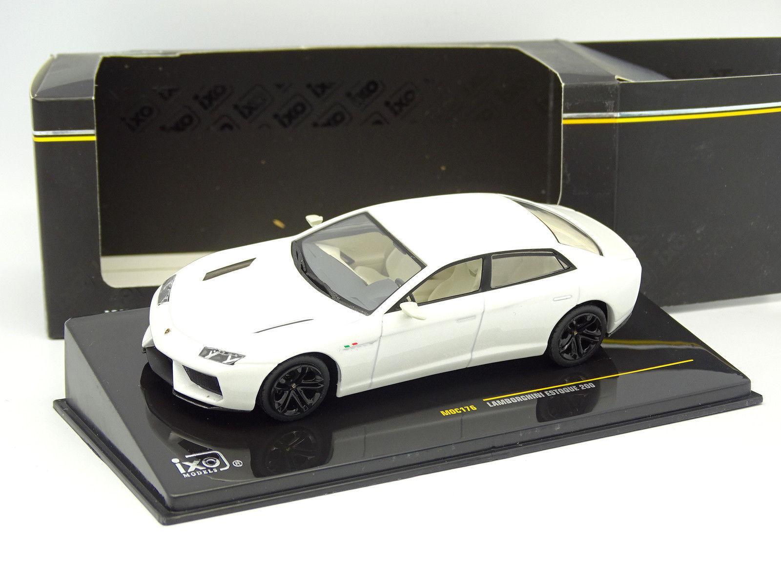 Ixo 1 43 - Lamborghini Estoque 200 blancoo