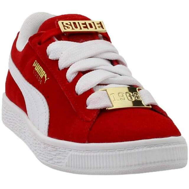 Puma Suede Classic B-Boy Fabulous (Little Kid) Sneakers Casual Sneakers Red