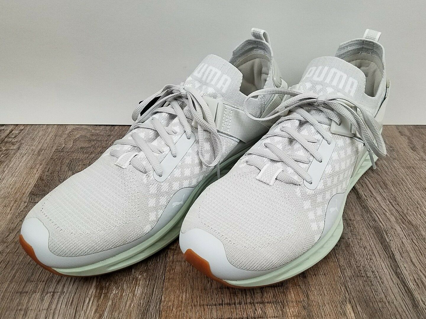The PUMA Ignite 3 Evoknit Lo 189904 08 White Light Gray Mint Size 11.5 Scarpe classiche da uomo