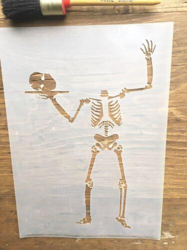Skeleton Art Scary Halloween Stencil Skeleton Stencil Halloween Skeleton