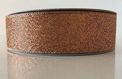 25mm Lurex Metallic Ribbon Cake Decorating Christmas sparkling GOLD SILVER