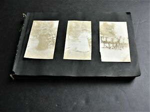Vintage-Set-of-100-Real-Photo-Snapshot-1900s-early-Scrapbook