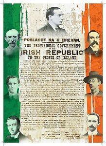 Irish-Leaders-and-The-Proclamation-of-the-Irish-Republic-with-Irish-Flag-A4-post