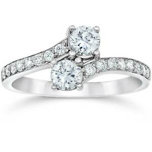1-50Ct-Forever-Us-Two-Stone-Two-Diamond-Engagement-Solitaire-Ring-14K-White-Gold