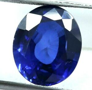 10.00 Ct Natural Royal Blue Sapphire Oval STUNNING Ceylon Certified Loose Gems