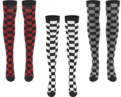 Urban Classics TB1166 Ladies Checkerboard Overknee Socks 3 Farben 2 Größen