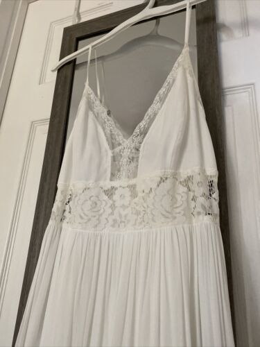 Forever 21 Off-White Lace Dress Long Women Large S