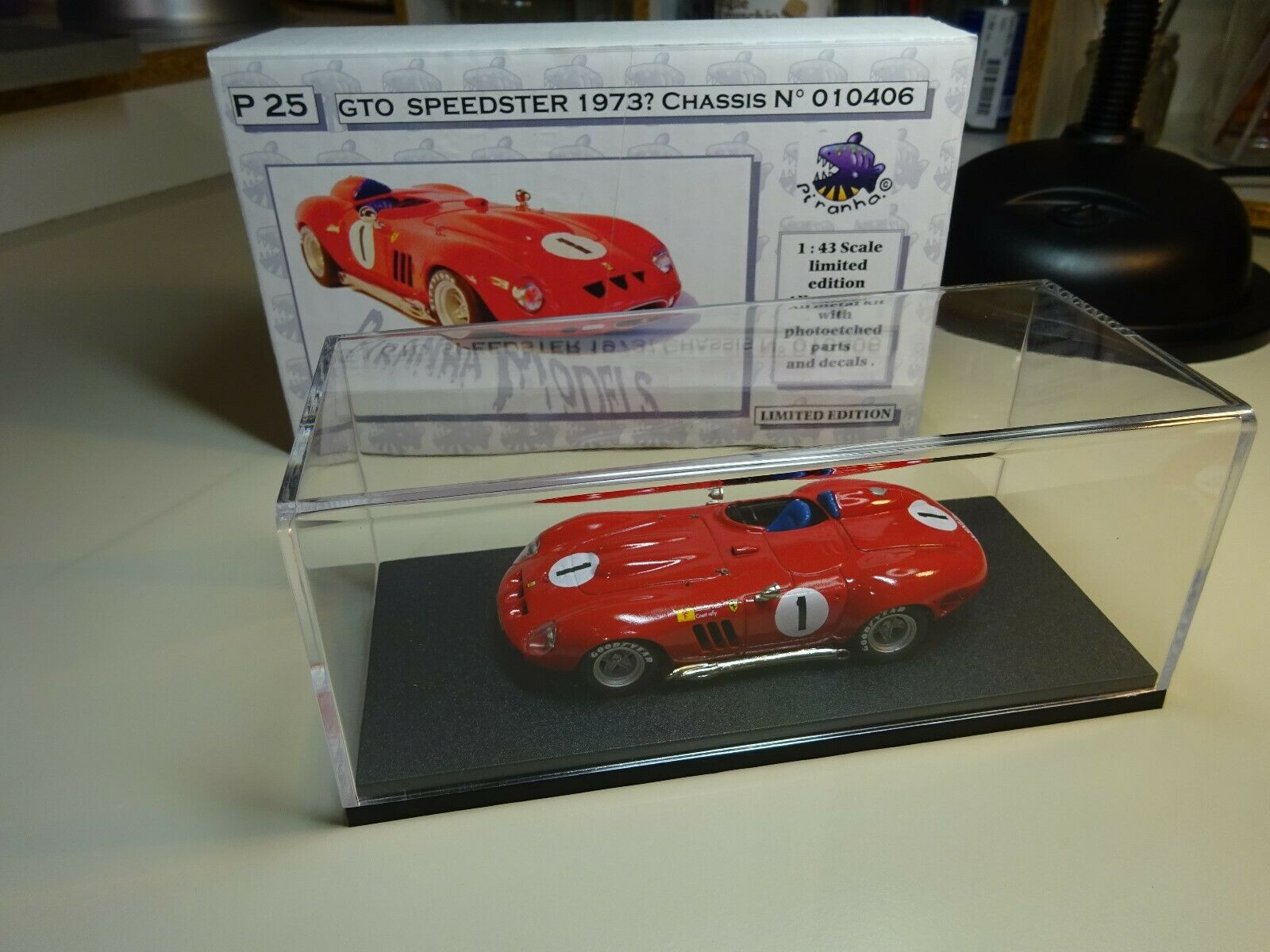 Ferrari 250 GTO Speedster 1973 1 43 Piranha Kit P25 built raro n. AMR Phoenix MG