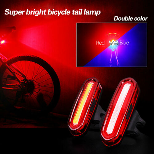 USB Rechargeable Rear Bike Tail Light COB LED 6 Modes Bycicle Safety Rear Light