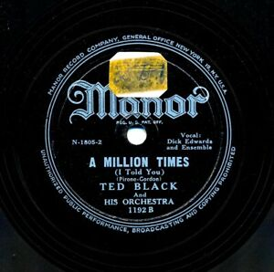 TED-BLACK-Orchestra-on-1949-Manor-1192-A-Million-Times-After-the-Ball