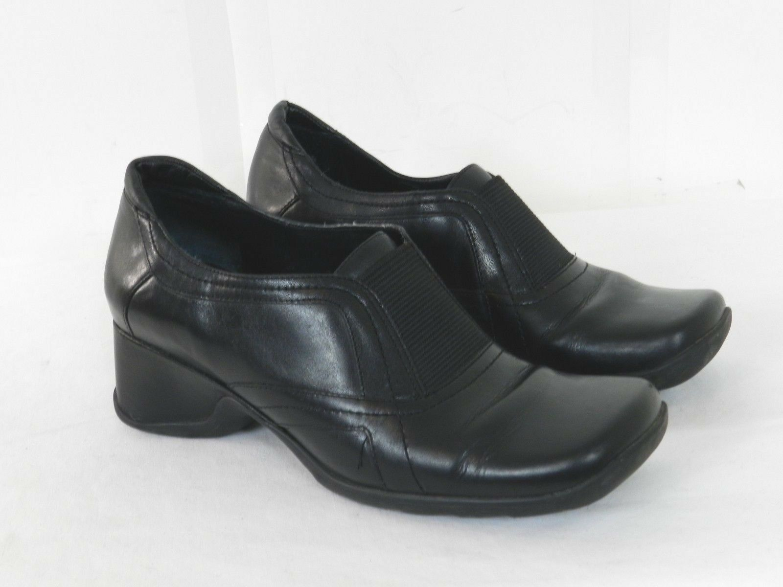 Kenneth Cole Reaction Womens Wedge Loafers Pumps Career Size 6 Black Leather