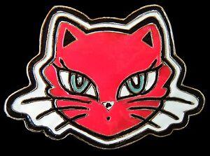 PUSSY-CATS-KITTY-KITTEN-FELINE-RED-BELT-BUCKLE-BOUCLE-DE-CEINTURE
