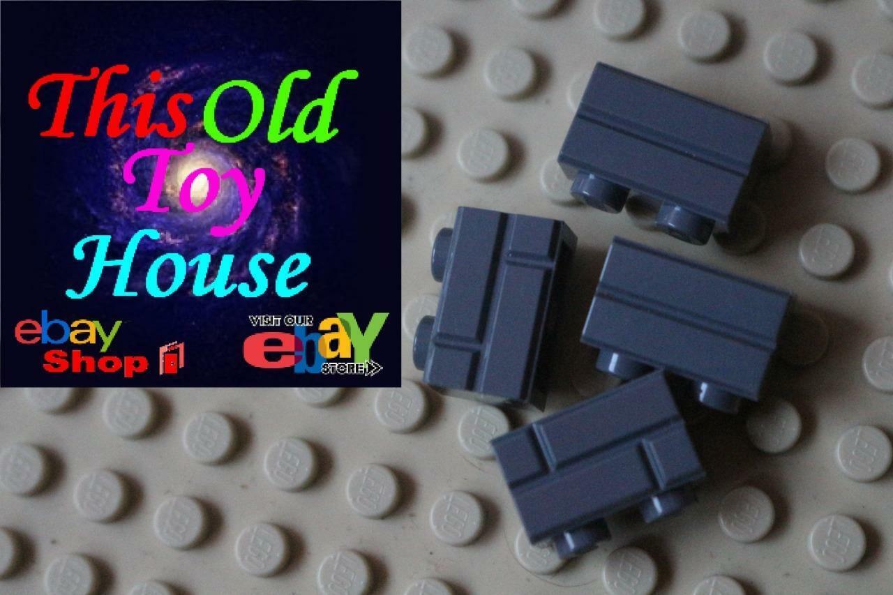 Lego City 12 x Dark Red Brick Modified 1 x 2 with Masonry Profile NEW