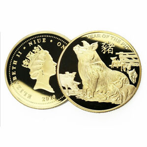 2019-Year-Souvenir-Gifts-999-9-24k-Gold-Plated-Coin-Year-of-The-Pig-Metal-Coin