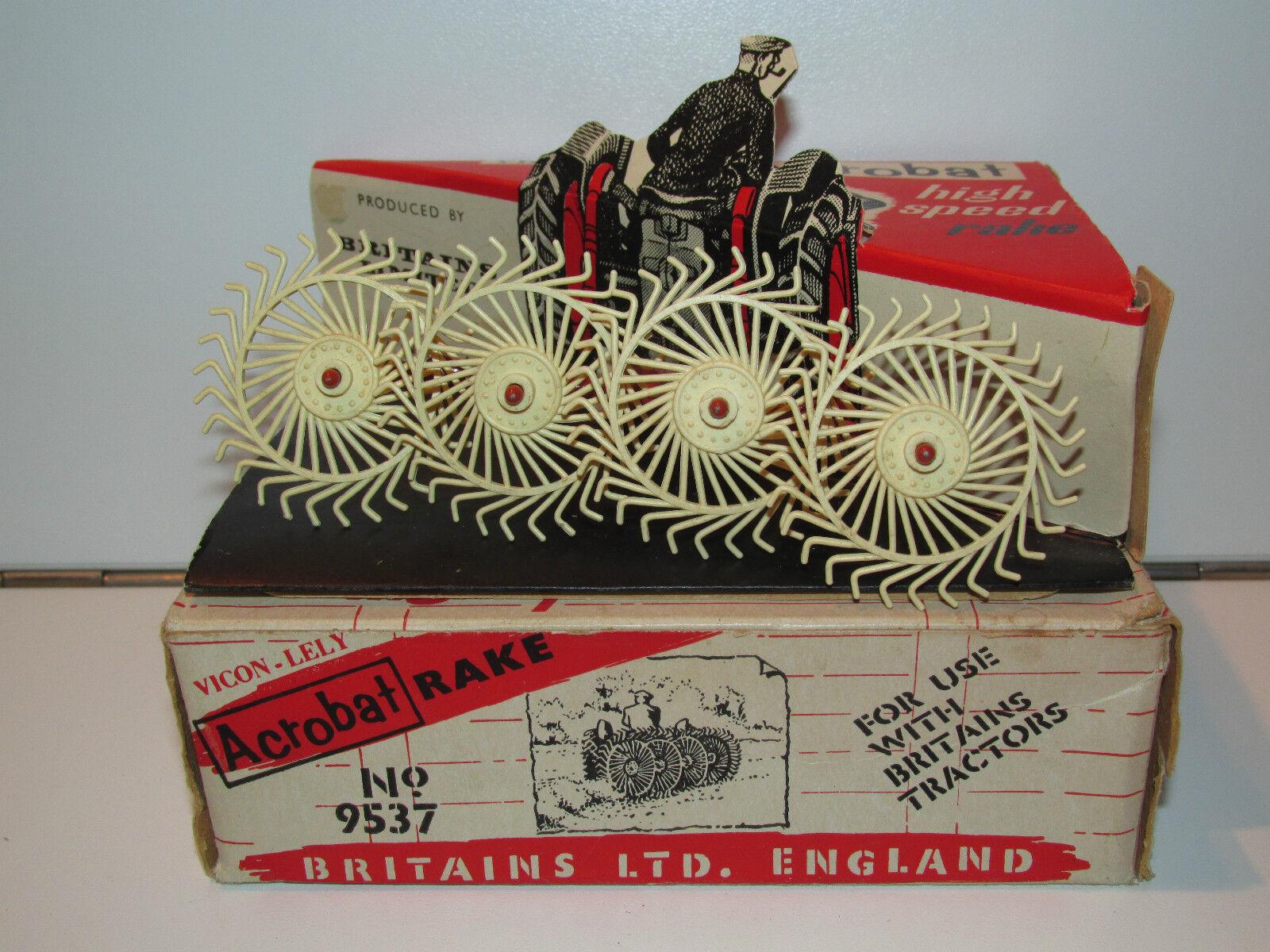 BRITAINS FARM FARM FARM No 9537 ACROBAT RAKE 1960s MIB 1 32 ENGLAND 097d34