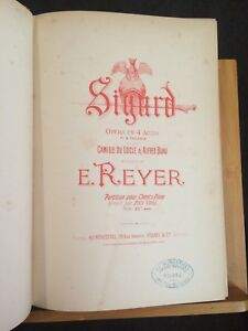 Ernest-Reyer-Sigurd-partition-chant-piano-ancienne-reliee-editions-Heugel-opera