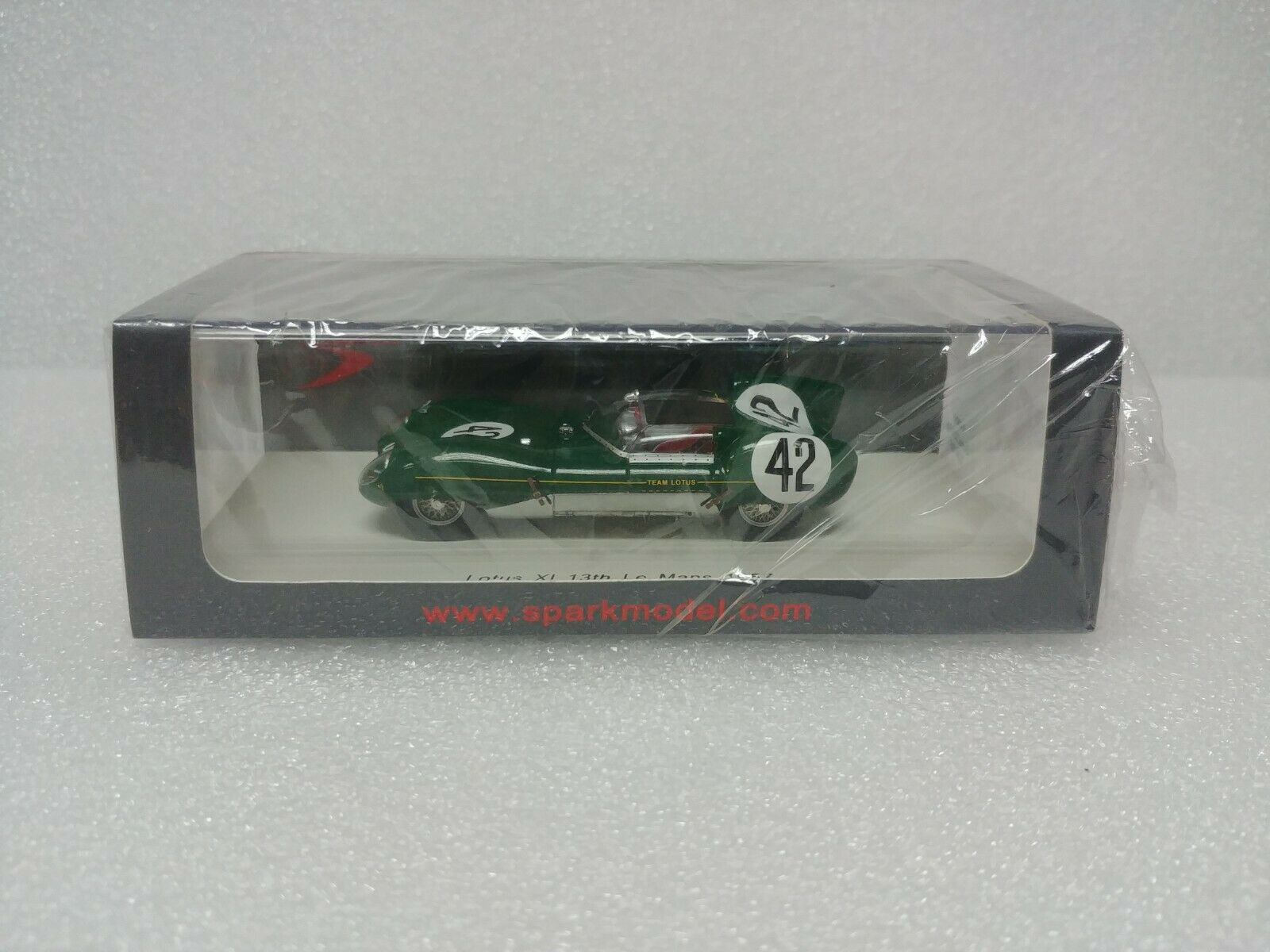 Lotus XI No.42 13th Le Mans 1957 SPARK MODEL 1 43  S4400