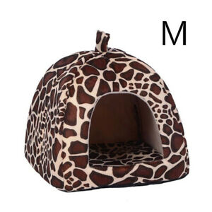 Pet-Cat-Dog-House-Kennel-Puppy-Cave-Sleeping-Bed-Super-Soft-Mat-Pad-Warm-Nest