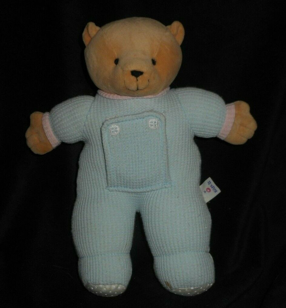 1999 KIDS II BABY THERMAL blueE PEEK A BOO MIRROR TEDDY BEAR STUFFED ANIMAL PLUSH