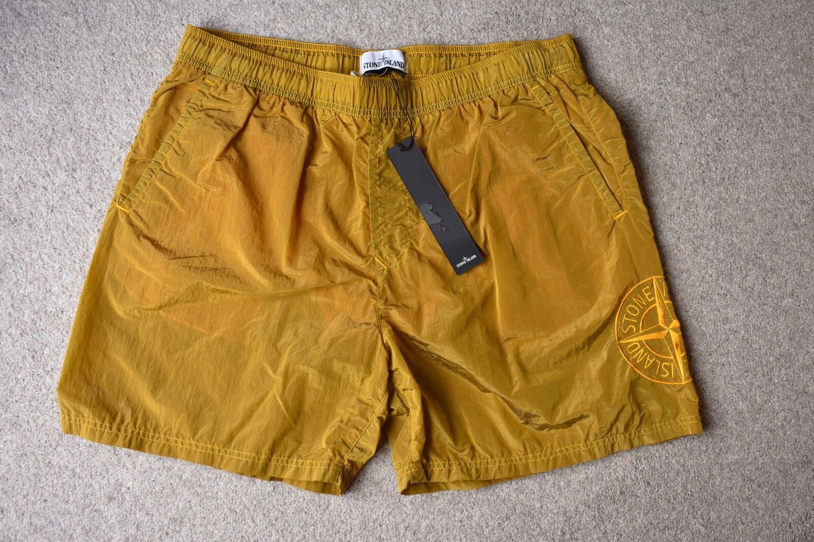 's Stone Island Bleu Marine Nylon Shorts Métal Swim/Casual Shorts Nylon SS18 XL BNWT (33) a2ebf9
