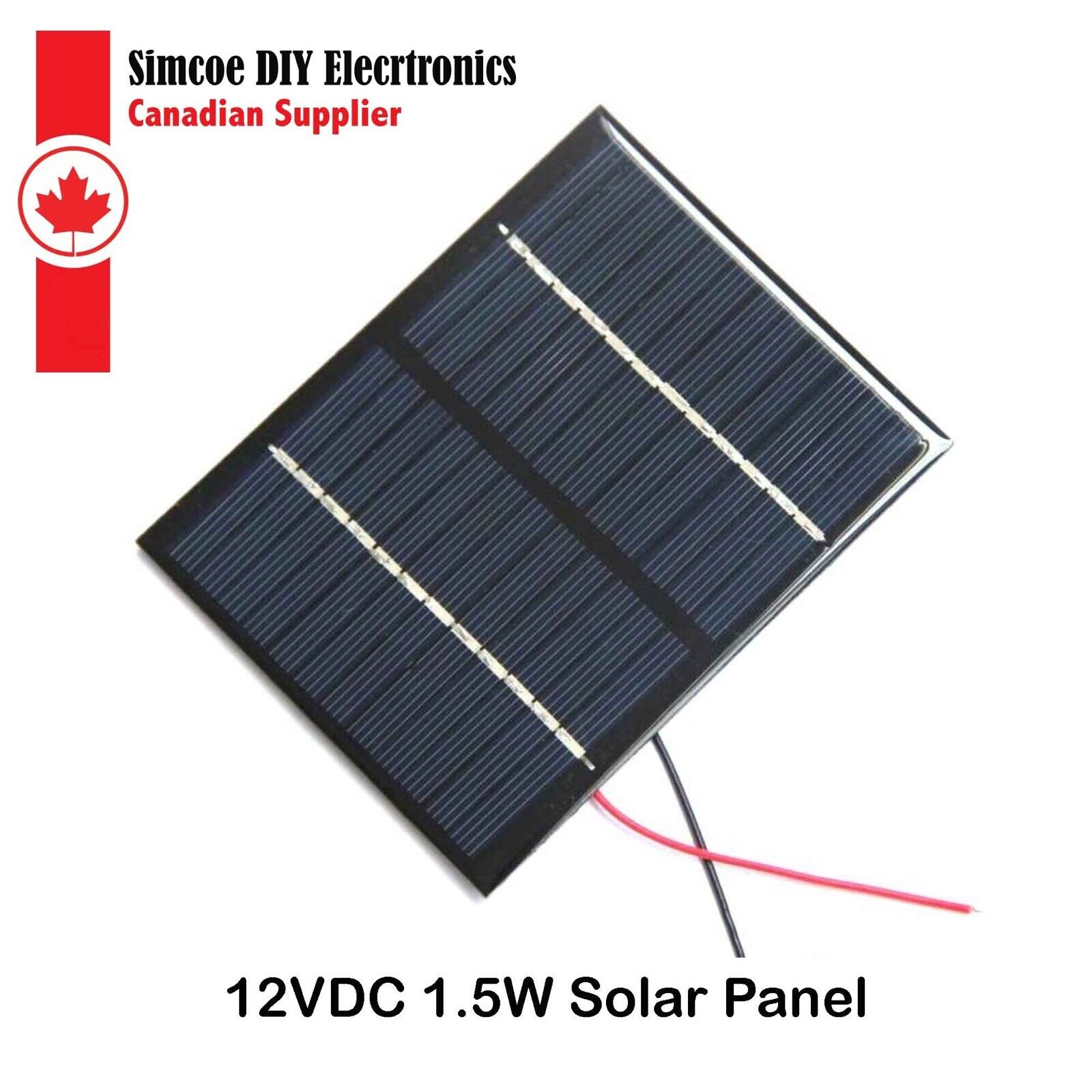 1.5W 12V Polycrystalline Silicon Solar Cell / Panel for DIY Power Charger #3249