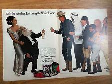 1966 White Horse Whiskey Whisky Ad Christmas Park the Reindeer