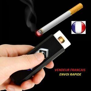 Briquet-USB-rechargable-Electronique-sans-gaz-Coupe-vent-Sans-fumee-flamme