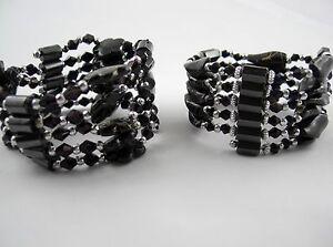 Hematite-Magnet-Chains-or-Bracelets-assorted-Designs-Colour-Black-Granite
