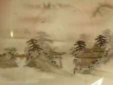 110) Untertasse 14,2 cm Lupenmalerei um 1900 Japan Bodenmarke Kutani Signatur
