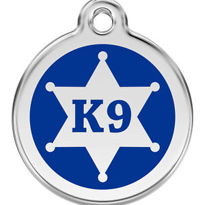 Blue-K-9-Sheriff-Engraved-Dog-ID-Identity-Tags-Discs-by-Red-Dingo-1KN