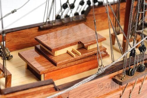 """Brig Lady Washington Model Tall Pirate Ship 25/"""" Boat Assembled Sailboat New"""