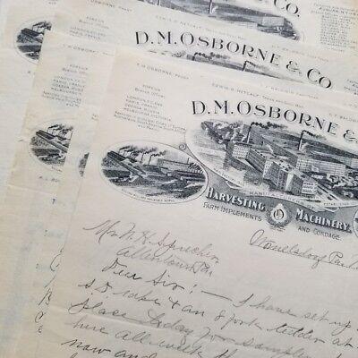 3 VINTAGE 1900s STUDEBAKER CAR CO DETROIT SOUTH BEND AUTOMOBILE LETTERHEADS