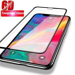 2PCS-For-iPhone-X-XS-Max-XR-6D-9H-Full-Cover-Tempered-Glass-Screen-Protector-NEW