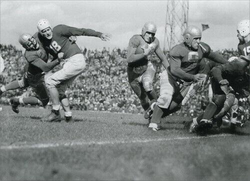 John Pingel Carrying Football Historic Detroit Blank Note Card by Avanti Press