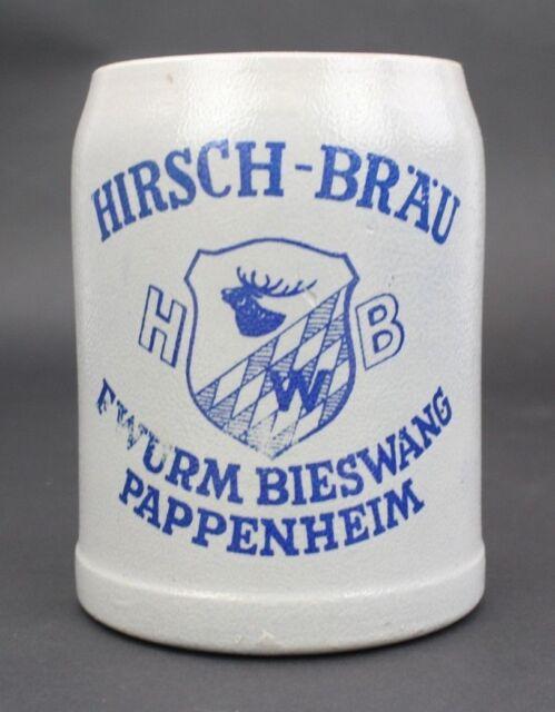 ORIGINAL ALTER 1,0 L Bierkrug Krug Brauerei Hirschbräu