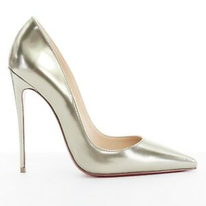 c18f282c9fe new CHRISTIAN LOUBOUTIN So Kate 120 dark silver mirrored leather ...