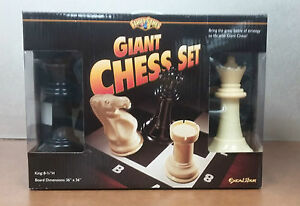 "Giant Chess Set (Family Games) Plastic with an 8"" King"