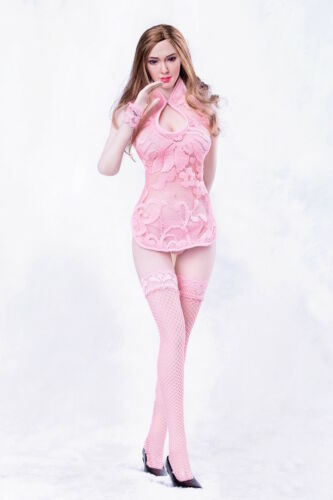 "1//6 Lace Dress Lingeries Stockings Set PINK For 12/"" Phicen Female SHIP FROM USA"