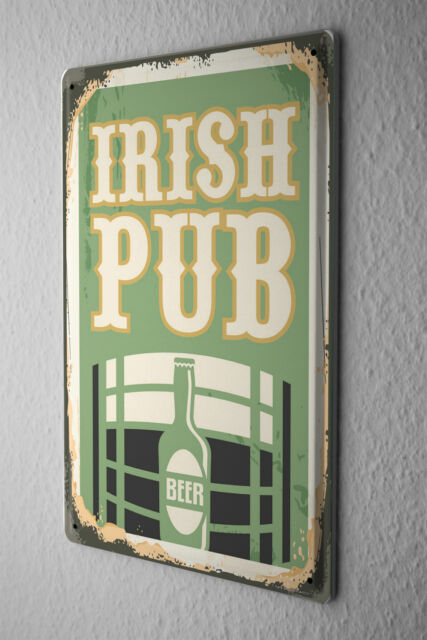 Tin Sign Beer Retro Irish pub Fun Party Room Vintage