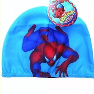 Image is loading SPIDERMAN-Boys-Kids-Childrens-LYCRA-SWIMMING-CAP-Swim- 32cdf8b058fa