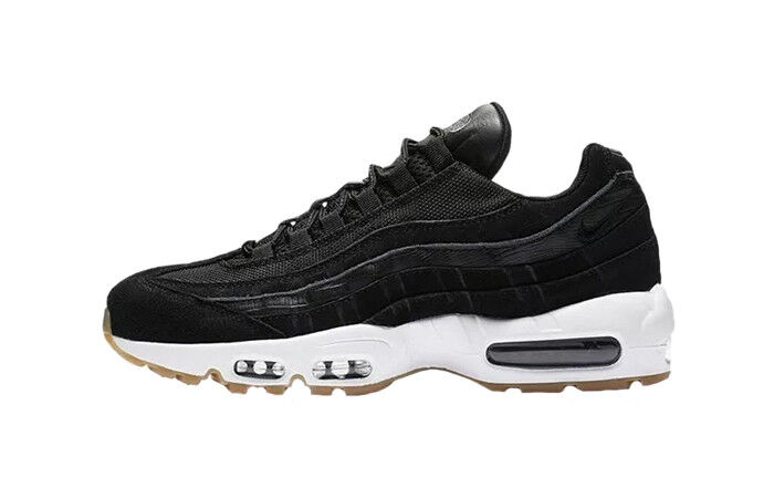 New Nike Men's Air Max 95 Premium shoes (538416-016)  Black  White-Gum