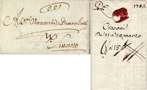 1702  prefilatelica da Genova a Livorno croce sant'Andrea Cavalcata, con testo