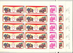 Equatorial-Guinea-1976-10p-Automobiles-1v-Imperf-M-S-of-10-x-10v-P-P
