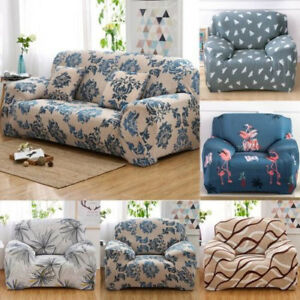 Details About 1234 Seater Sofa Cover Elastic Stretch Furniture Protector Farmhouse Floral