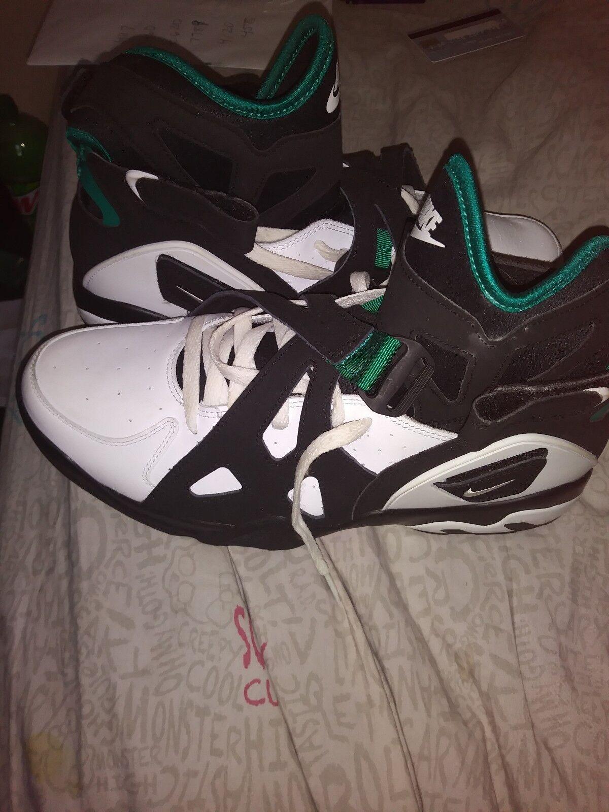 Nike Air Unlimited Black White Emerald Green 889013 001 Men Sizes 11