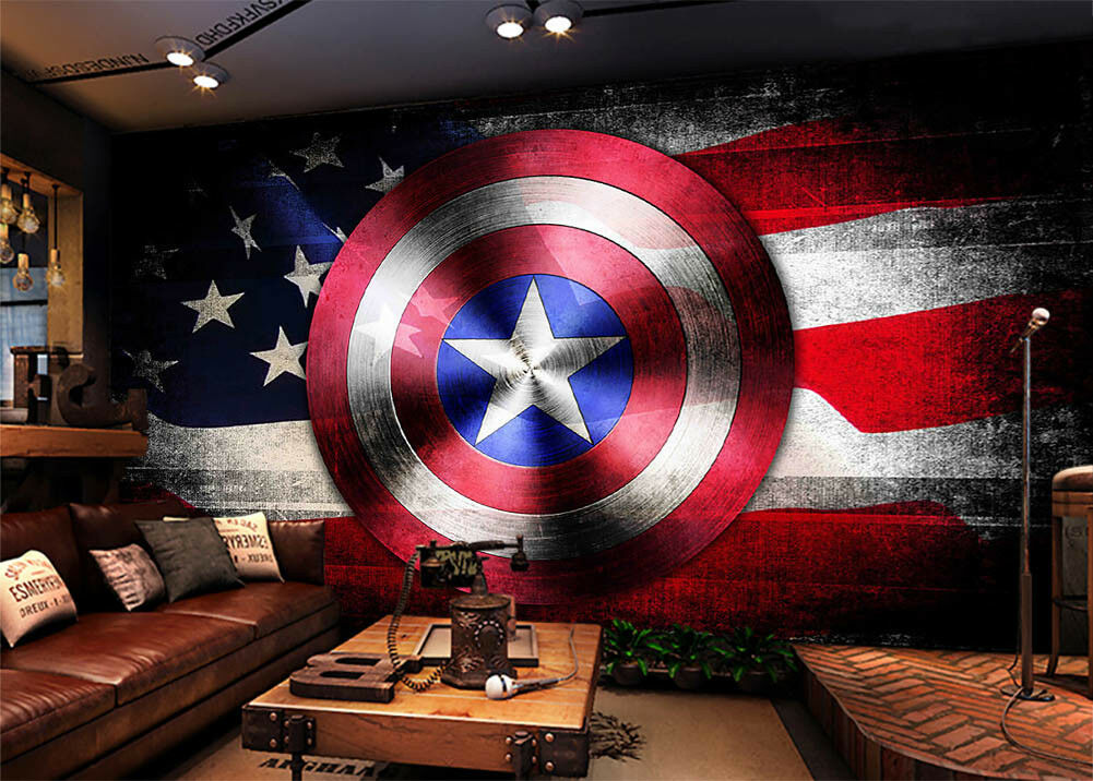 American Flag Sign 3D Full Full Full Wall Mural Photo Wallpaper Printing Home Kids Decor 35ec47