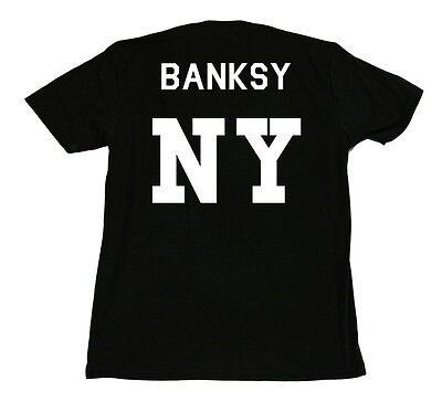Kings Of NY Banksy NY NYC Graphic Team Artist Short Sleeve T-Shirt Black White