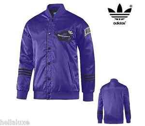 Details about Adidas SATIN VARSITY JACKET superstar Letterman sweat shirt Bomber~Mens sz L NWT