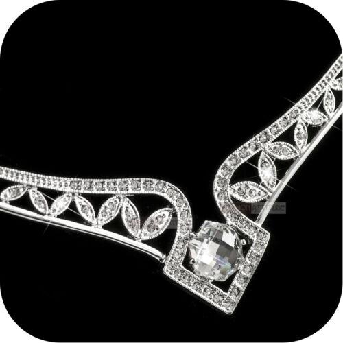 18k white gold simulated diamond pendant wedding party necklace luxury amazing