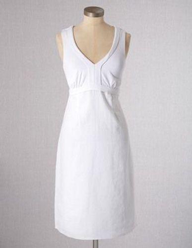 NEW BODEN WHITE LINEN & JERSEY DRESS WH505 WH505 WH505 SIZE US 16 L   8e25c8